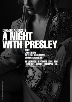 Affiche concert A night with Presley